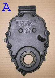 Chevrolet Vortec timing chain cover A