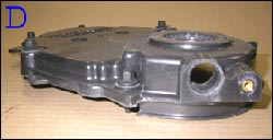 Chevrolet Vortec timing chain cover C - with knock sensor installed